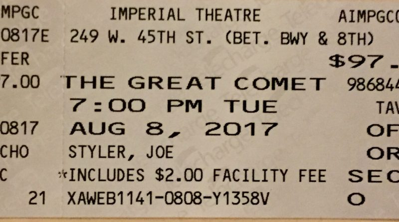 Great Comet ticket